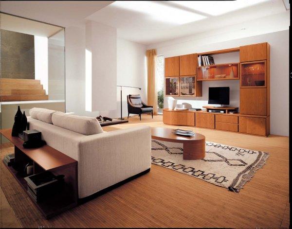 Soggiorno Moderno Ciliegio: Mobile soggiorno moderno in ciliegio con ...